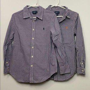 Ralph Lauren 2 Button Front Shirts L 14-16 Boys